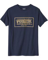Pendleton - Klassisches Logo T Shirt Navy - Lyst