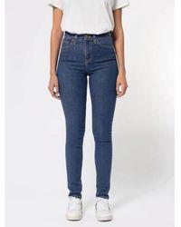 Nudie Jeans Hightop Tilde Jeans Hellblau