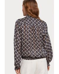 Maison Scotch - Top estampado con volantes - Lyst