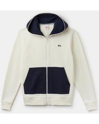 015bff27 Cream Marine Cotton Hooded Zip Sweatshirt