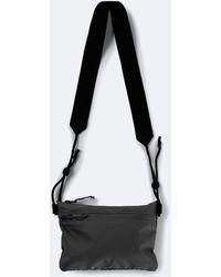 Rains Waterproof Rubberised Ultralight Pouch Bag - Black