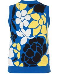 Stine Goya Chaleco Milenrama Violeta Hoja De Plátano Sostenible - Azul