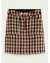 Scotch & Soda Minifalda tweed - Multicolor