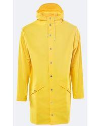 Rains - Yellow Waterproof Long Jacket - Lyst