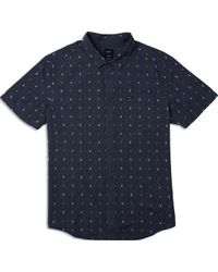 RVCA Aye Kat Button Up Shirt - Nero