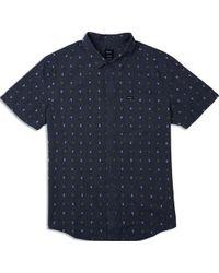 RVCA Aye Kat Button Up camisa - Negro