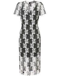 Diane von Furstenberg Fitted Lace Dress - Black