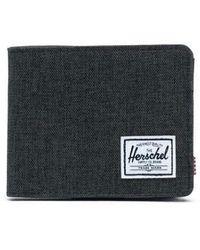 Herschel Supply Co. Herschel Roy Geldbörse Black Crosshatch - Schwarz