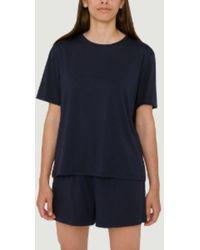 Organic Basics Marineblaue -Shorts
