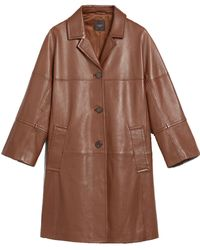 Weekend by Maxmara Manteau Duster Civada en Cuir Nappa - Marron