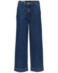 SELECTED Jean court bleu taille haute