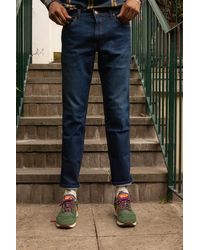 Wrangler Herren Greensboro Stay Warm Jeans - Blau
