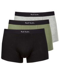 Paul Smith 3 Pack Trunk Black Green Grey - Multicolour