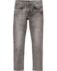 Nudie Jeans Jeans slim fit vintage grigio effetto magra