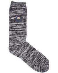 Folk Melange Sock Black