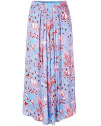 Stine Goya Blossom Jungle Skirt - Azul