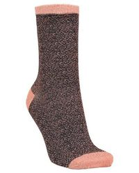 Becksöndergaard Dina Animal Socks In Rose - Brown