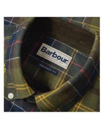 Barbour Camicia scozzese verde oliva - Nero