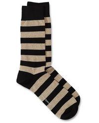 Oliver Spencer Miller Sock Byram Black Beige