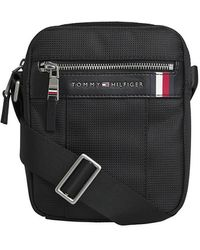 Tommy Hilfiger Bolso Reporter Pequeño Elevated Negro