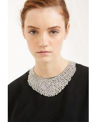 Weekend by Maxmara Collar negro de metal y diamantes de imitación de Etuania