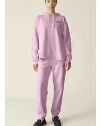 Ganni Pantalón elástico rosa con software