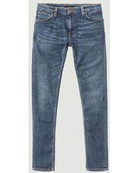 Nudie Jeans Skinny Linen Jeans - Blue