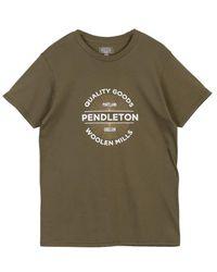 Pendleton Productos calidad camiseta ver oliva - Verde