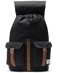 Herschel Supply Co. Black And Tan 10233-00001 Synthetic Leather Dawson Backpack