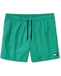 Tommy Hilfiger - Pantaloncini da bagno con coulisse Dynasty Green - Lyst