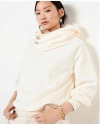 Ba&sh Https://www.trouva.com/it/products/baandsh-daren-ecru-sweatshirt - Bianco