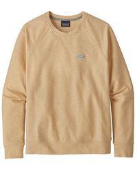 Patagonia Vela Peach Womens Pastel P 6 Label Ahnya Crew Sweatshirt - Natural