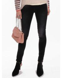 Nudie Jeans Hightop Tilde Jeans Concrete Schwarz