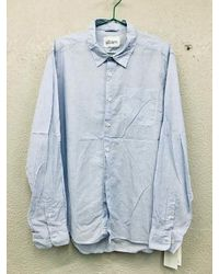 Albam Stripes camisa luz azul franja ultima pieza