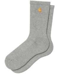 Carhartt Chaussettes Chase Heather Gold - Gris