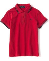 Fred Perry Camisa para mujer Twin Tipped G12 872 - Rojo
