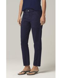 Citizens of Humanity Leah Washed Navy Cargo Jeans - Blue