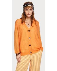 Maison Scotch Cardigan in maglia di lana arancione dolce