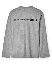 Comme des Garçons T-shirt gris tricoté L/s W28115
