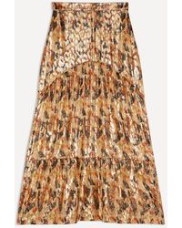 Ba&sh Falda larga de seda Ocre Galina - Multicolor