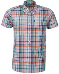 Barbour - Camisa Madras 3 Tailored Rosa - Lyst