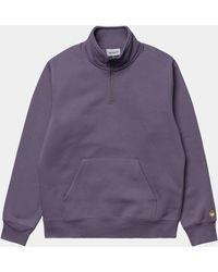 Carhartt Chase Zip Neck Sweat Provence - Purple
