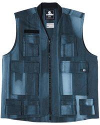 Edwin Tie Dye Blue Tactical Vest