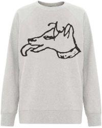Bella Freud Big Dog Ash Sweatshirt - Gray
