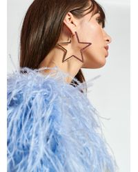 Essentiel Antwerp Gold-tone Star-shaped Rhinestone Earrings - Multicolour