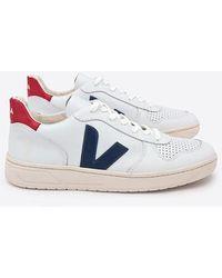 Veja - Baskets V 10 Blanc Nautico Pekin - Lyst