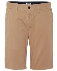 Tommy Hilfiger Tommy Jeans Essential Chino Short Taupe - Natural