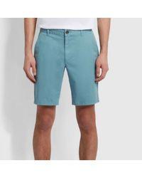 Farah Hawk Chino Twill Shorts Riffgrün - Blau