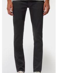 Nudie Jeans Vaqueros negros Lean Dean Dry Everblack