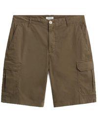 Woolrich Pantalones cortos carga algodón estirar el olivo l ejército - Verde